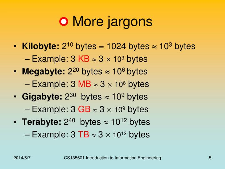 More jargons