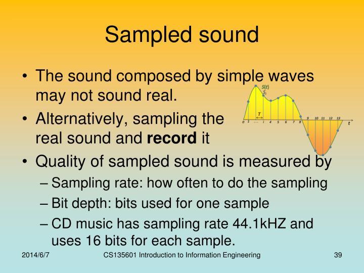 Sampled sound