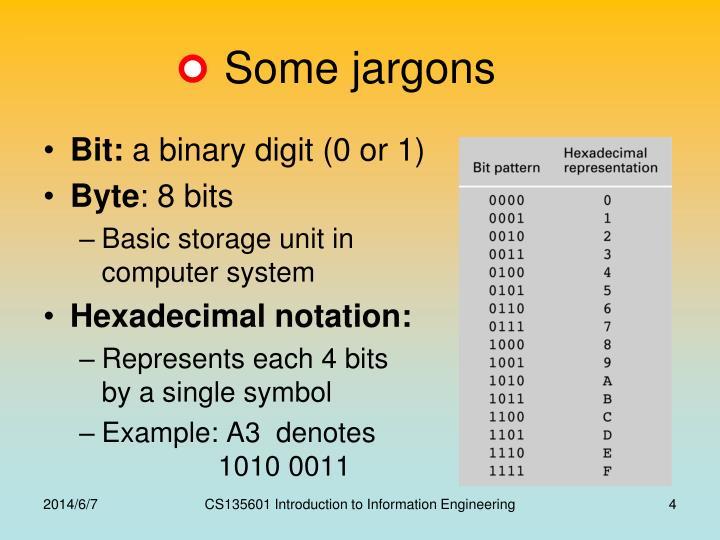 Some jargons