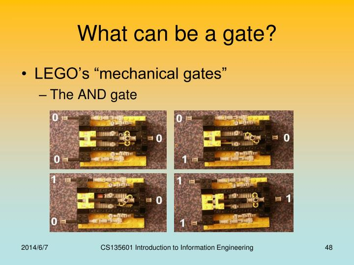 What can be a gate?