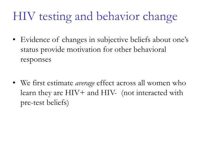 HIV testing and behavior change