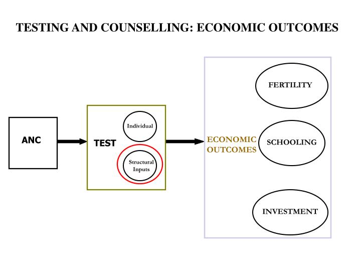 TESTING AND COUNSELLING: ECONOMIC OUTCOMES