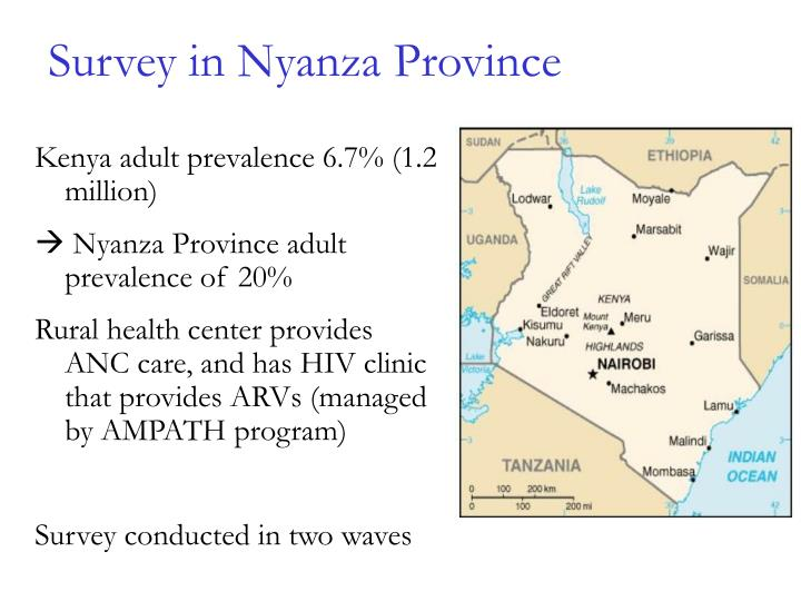 Survey in Nyanza Province