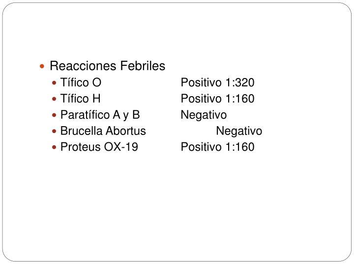 Reacciones Febriles