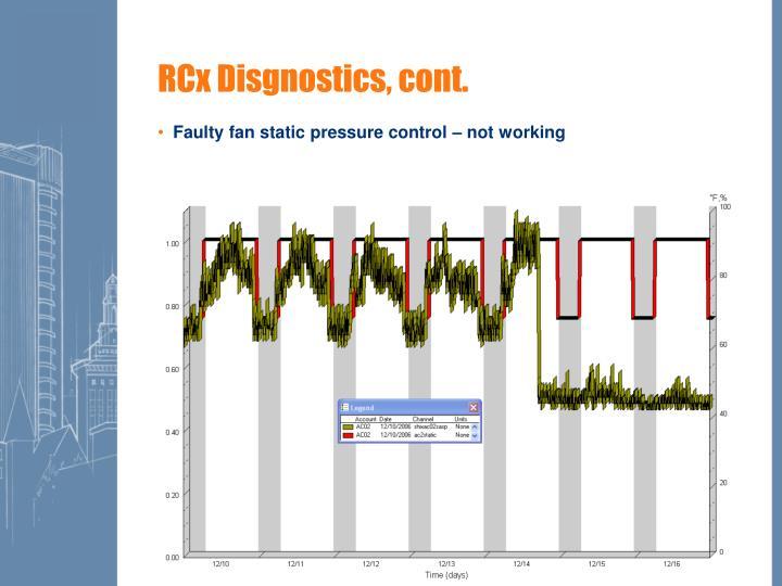 RCx Disgnostics, cont.