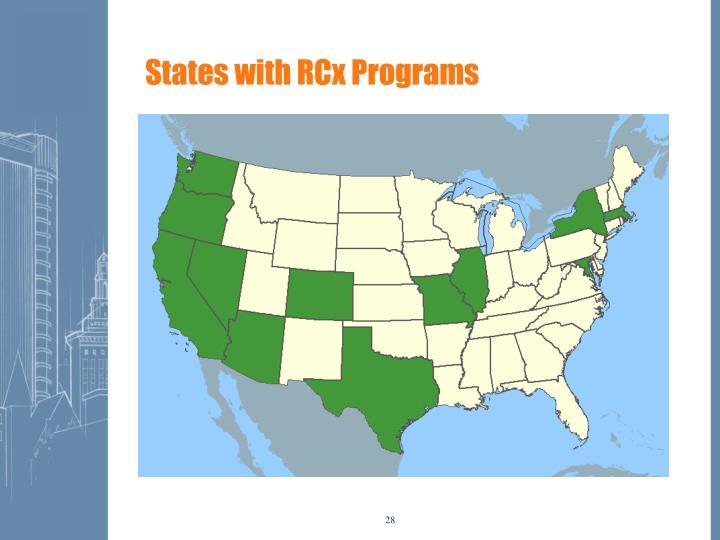 States with RCx Programs