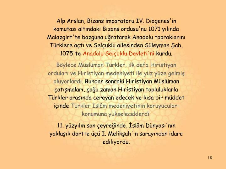 Alp Arslan, Bizans imparatoru IV. Diogenes'in