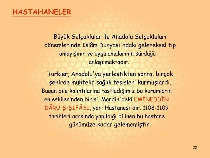 HASTAHANELER