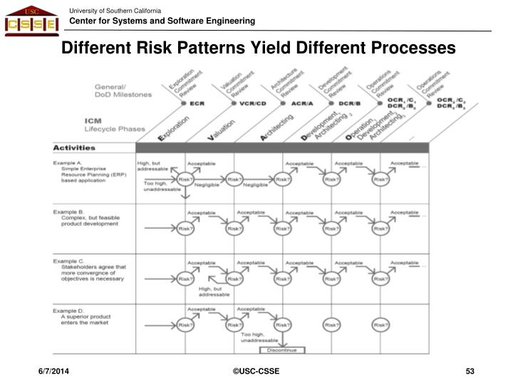 Different Risk Patterns Yield Different Processes