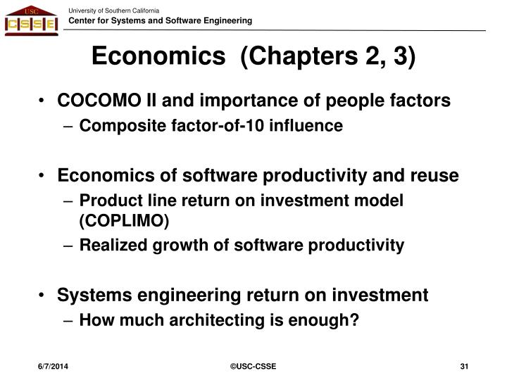 Economics  (Chapters 2, 3)