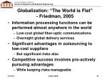 globalization the world is flat friedman 2005