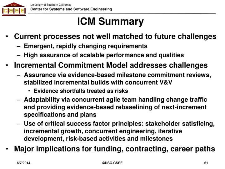 ICM Summary