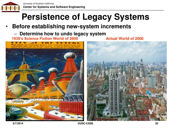Persistence of Legacy Systems
