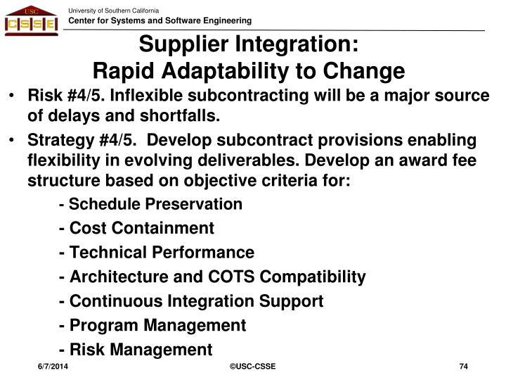 Supplier Integration: