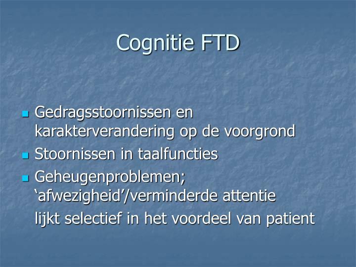 Cognitie FTD