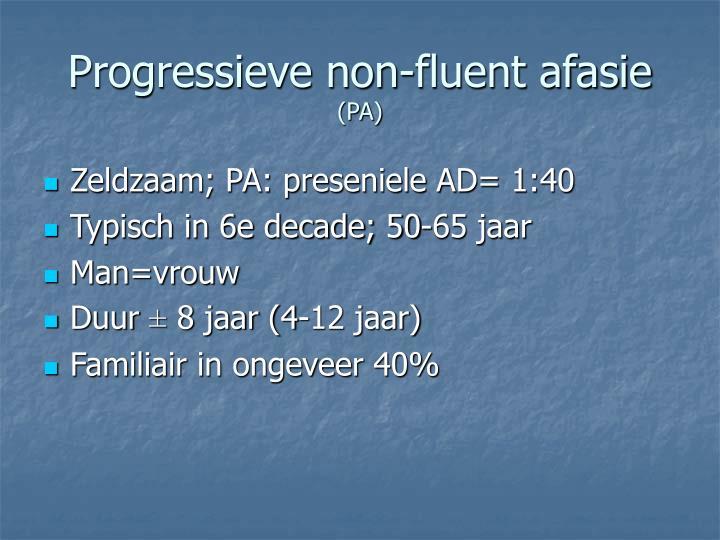 Progressieve non-fluent afasie