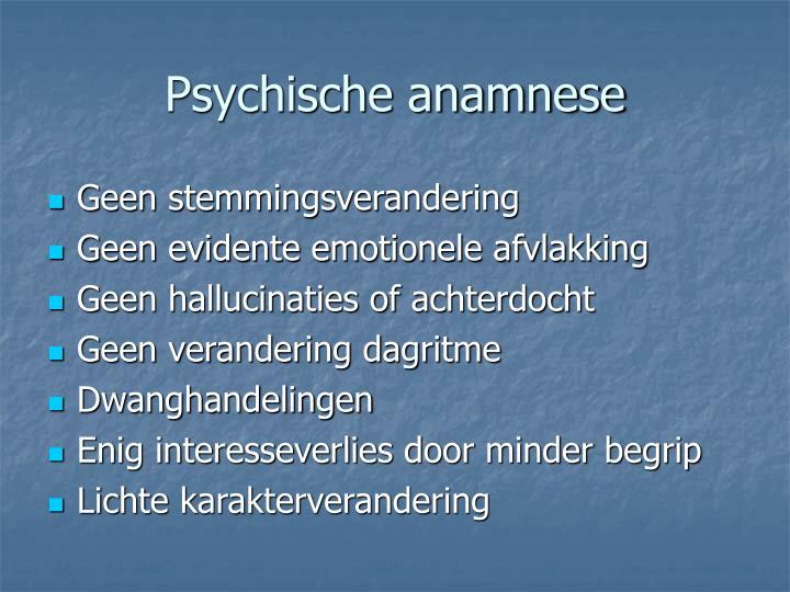 Psychische anamnese