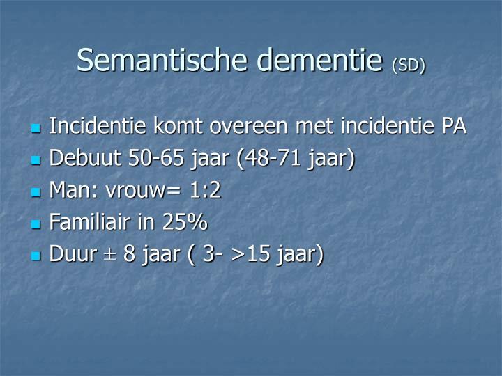 Semantische dementie