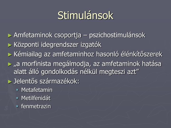 Stimulánsok