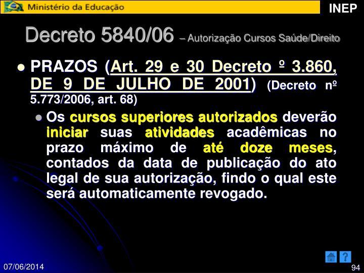Decreto 5840/06