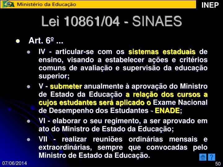 Lei 10861/04 - SINAES