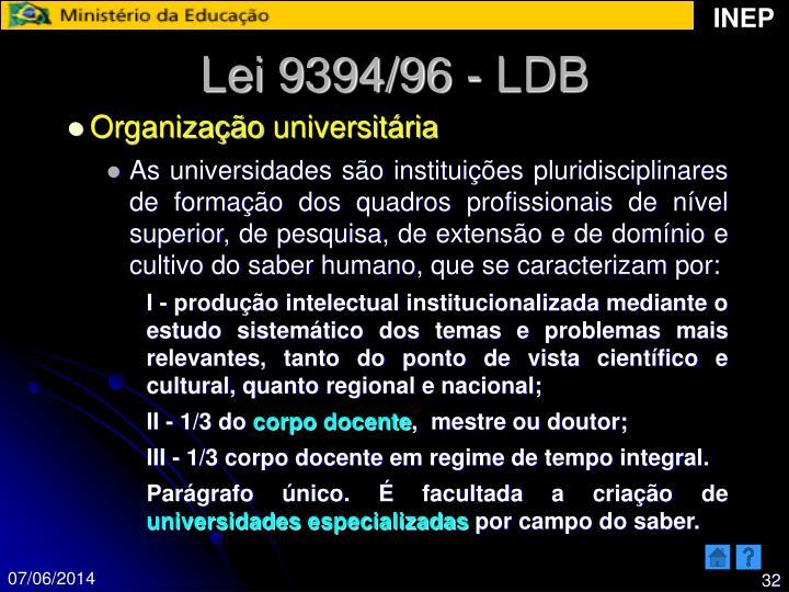 Lei 9394/96 - LDB