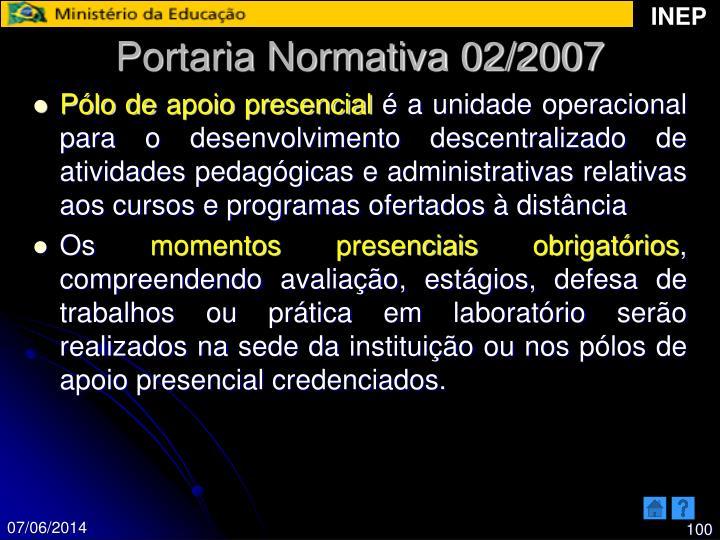 Portaria Normativa 02/2007