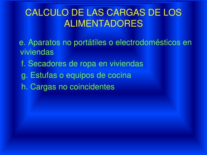 CALCULO DE LAS CARGAS DE LOS
