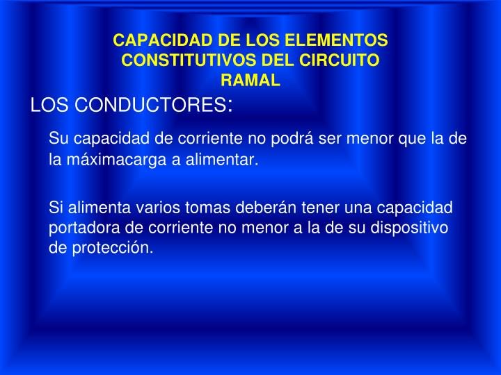 CAPACIDAD DE LOS ELEMENTOS