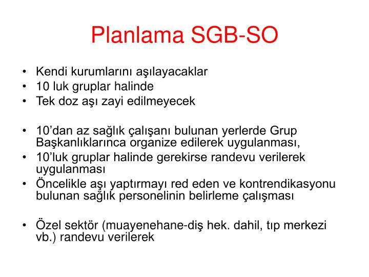 Planlama SGB-SO
