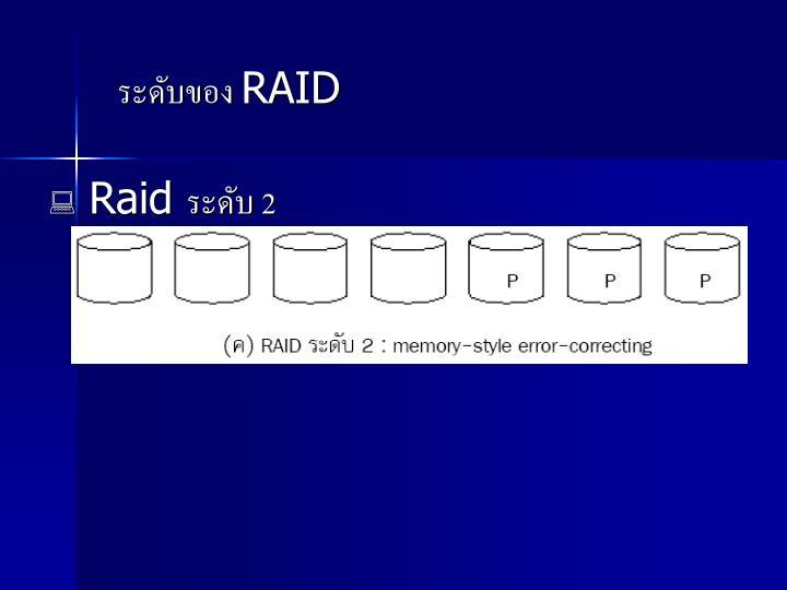 ระดับของ RAID