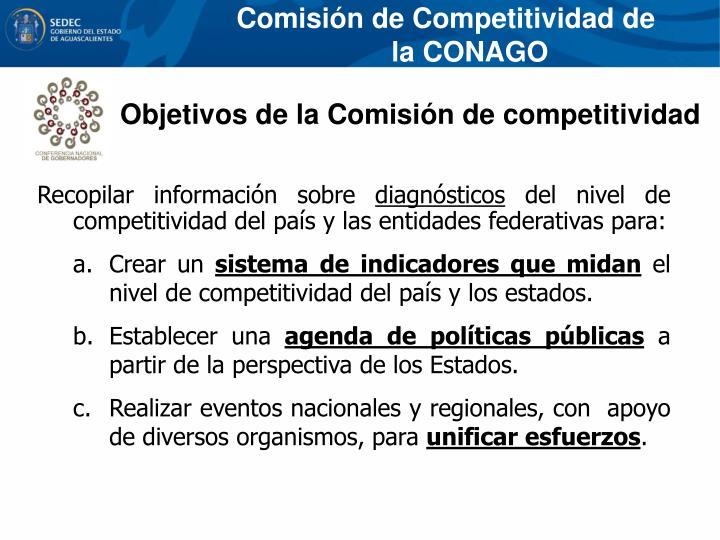 Comisión de Competitividad de la CONAGO