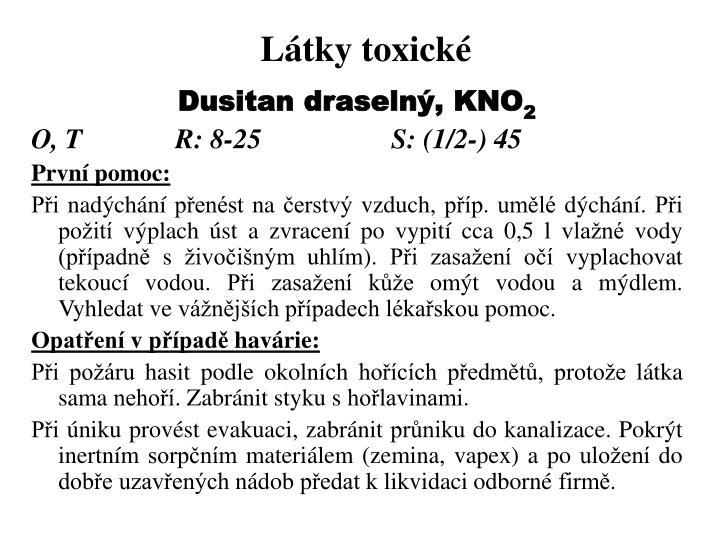 Látky toxické