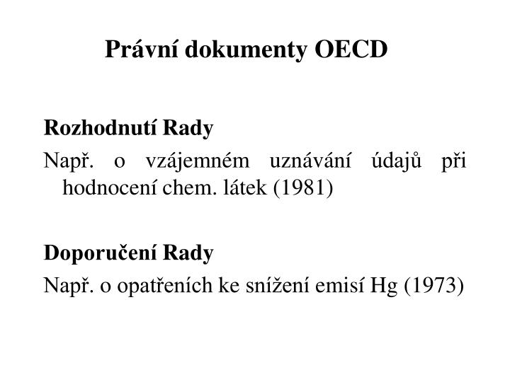 Právní dokumenty OECD