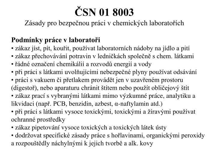 ČSN 01 8003