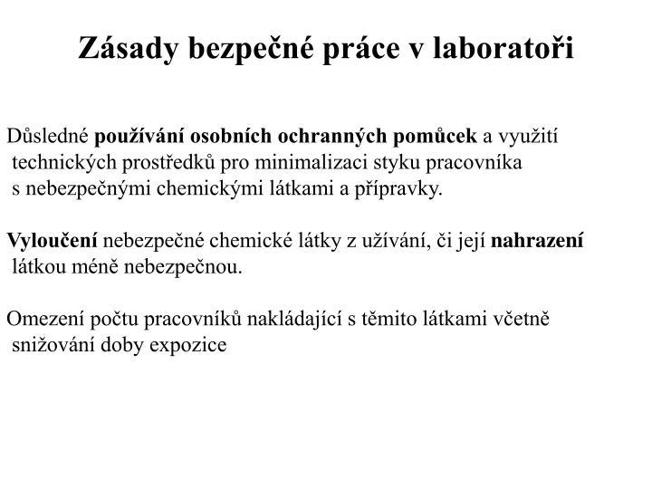 Zásady bezpečné práce v laboratoři