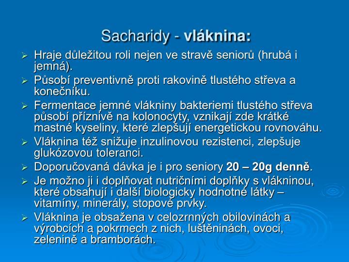 Sacharidy -