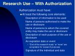 research use with authorization