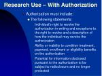 research use with authorization1