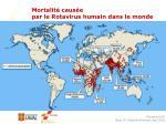 mortalit caus e par le rotavirus humain dans le monde