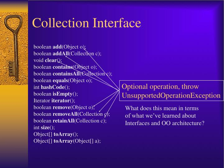 Collection Interface