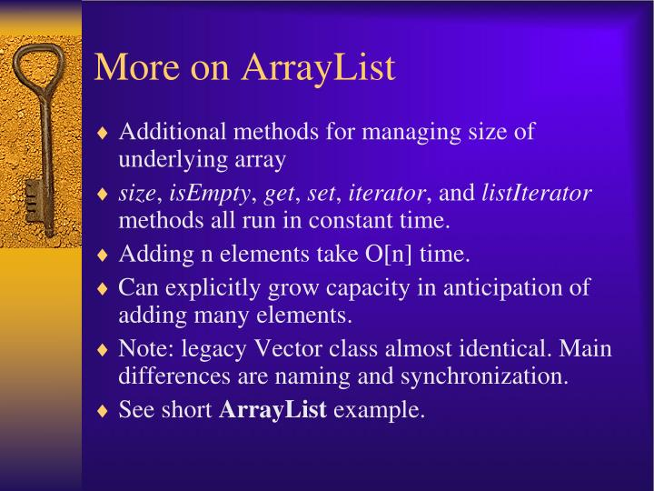 More on ArrayList