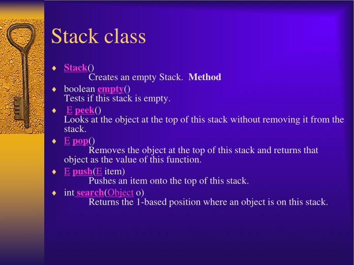 Stack class