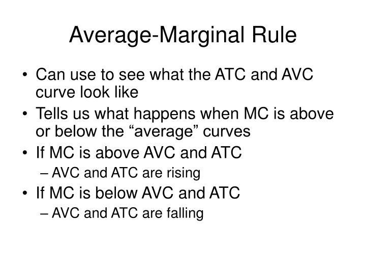 Average-Marginal Rule