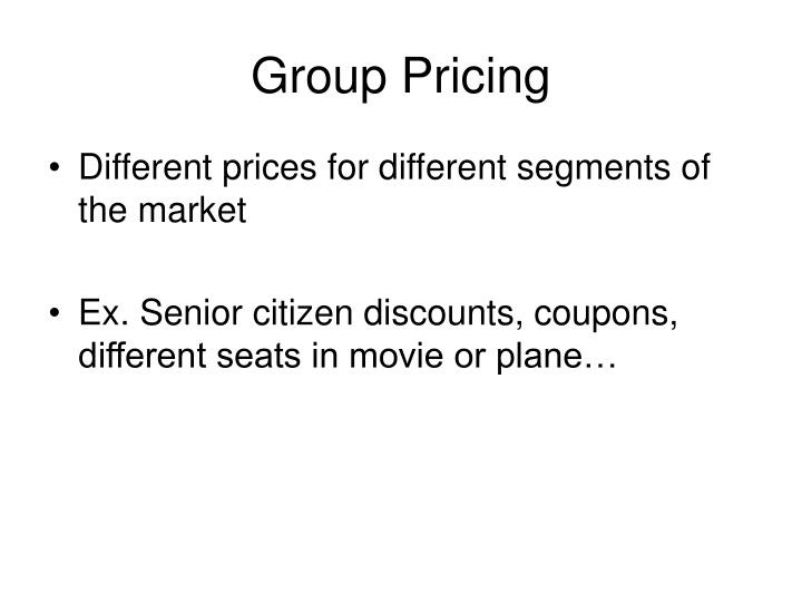 Group Pricing