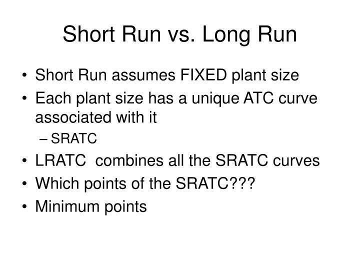 Short Run vs. Long Run