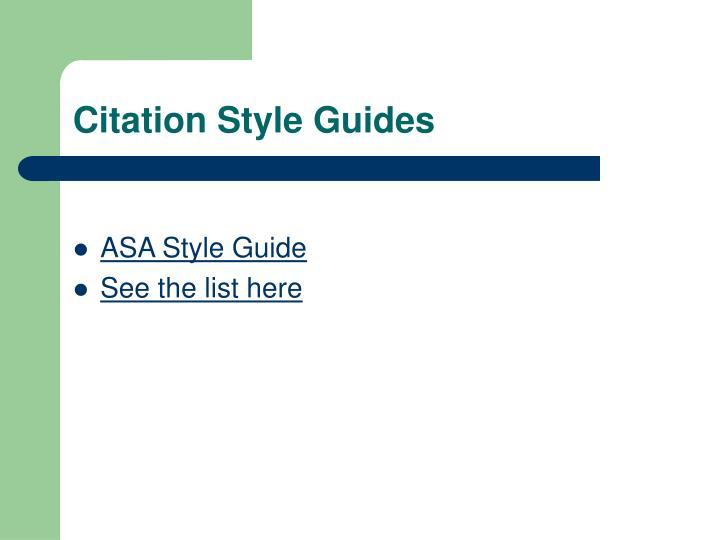 Citation Style Guides