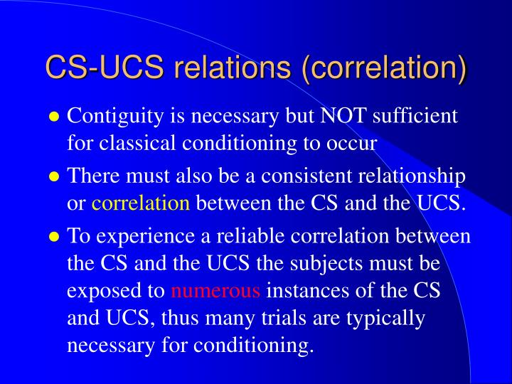 Cs ucs relations correlation