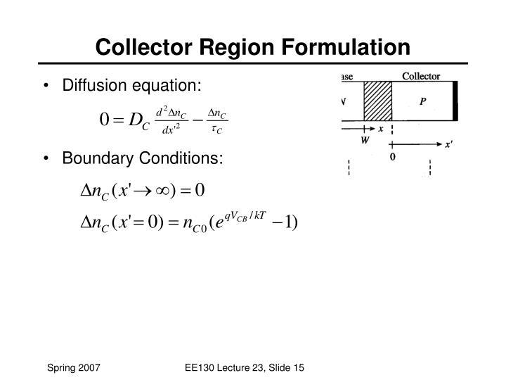 Diffusion equation: