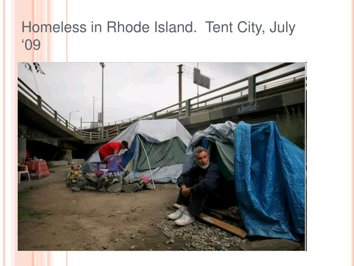 Homeless in rhode island tent city july 09
